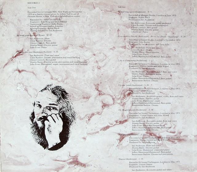 """JETHRO TULL LIVING IN THE PAST 2LP GATEFOLD 12"""" LP VINYL"""