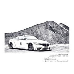 JP Performance - LIBERTY WALK  BMW M4 Pencildrawing by www.autozeichnungen.net