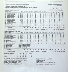 WNBA boxscore