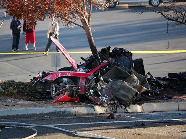 สภาพรถของ Paul Walker หลังเกิดอุบัติเหตุจนเสียชีวิต