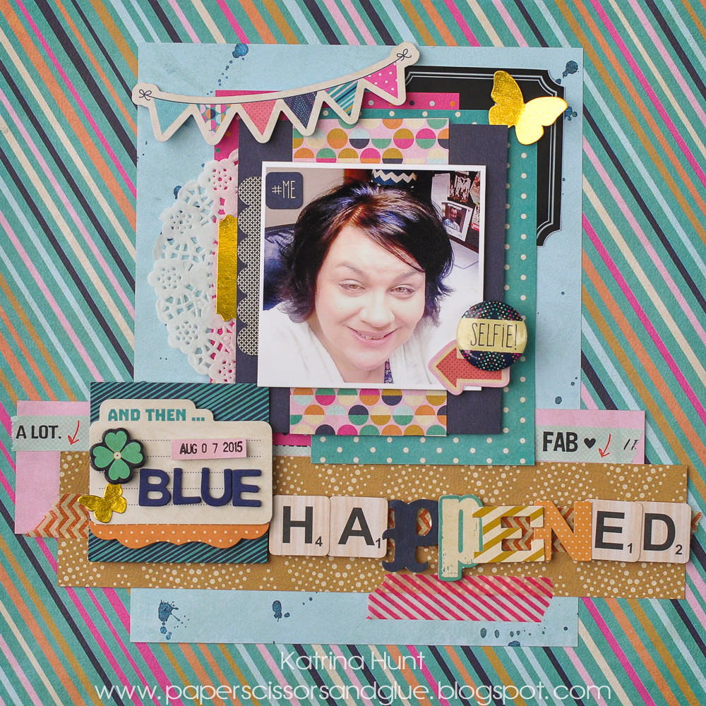 Blue Happened-Scrap Our Stash and Fancy Pants Designs