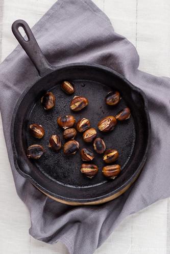 Risotto con pecorino e castagne