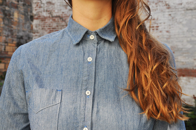 Mood Fabrics | Chambray Popover