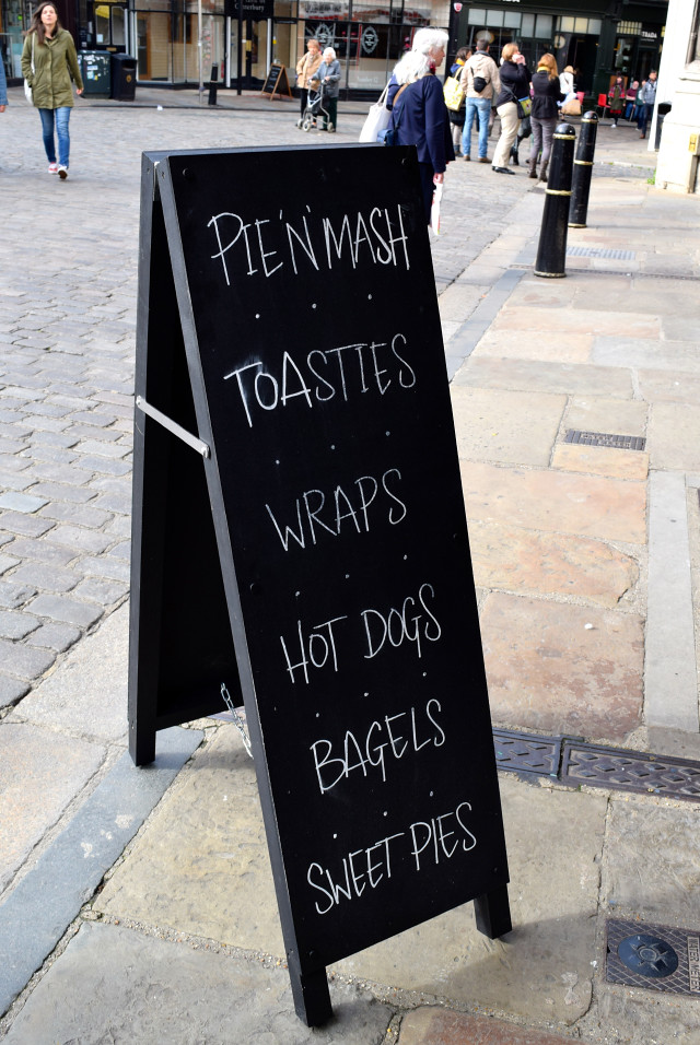 Sandwich Board outside Little Joe's Deli, Canterbury | www.rachelphipps.com @rachelphipps