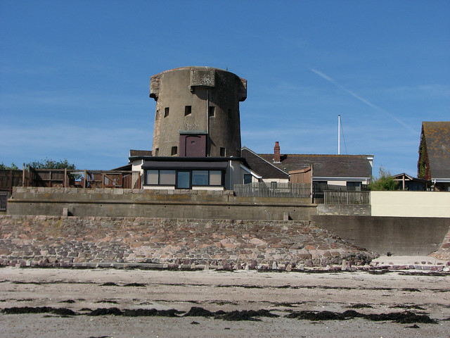 Martello Tower along the Royal Bay of Grouville
