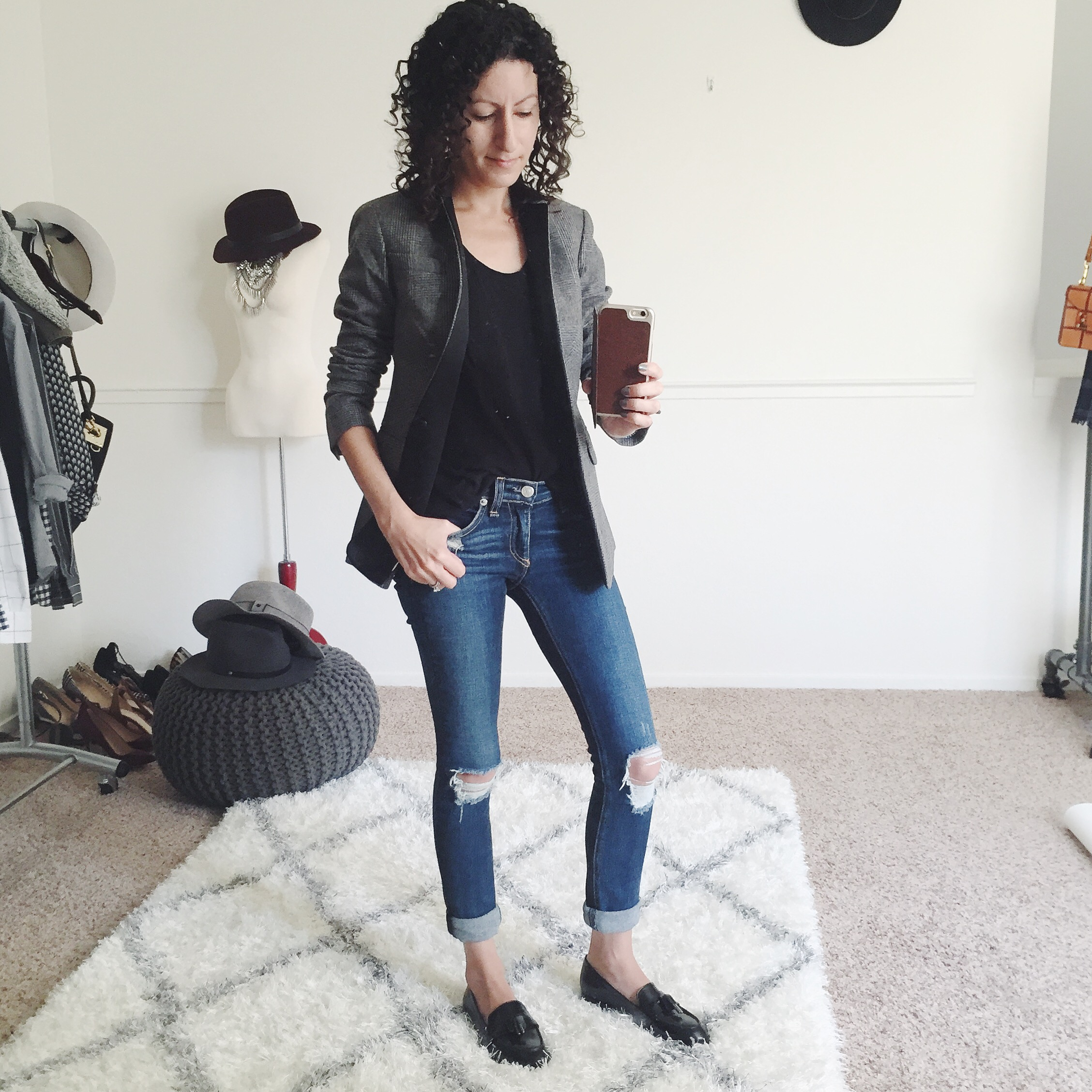 J.Crew Petite Regent Blazer in Black Plaid – Fit Review Friday