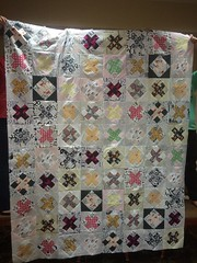 Raspberry kisses cat quilt