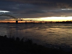Mud Island sunset, November 2015.
