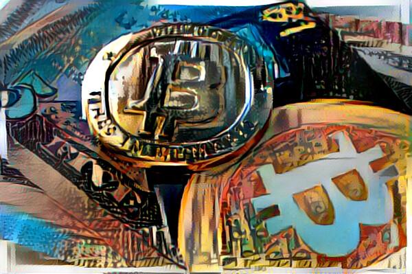 Bitcoin Mittelmeerlandschaft