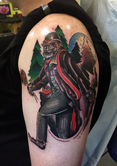 Gentleman sasquatch tattoo