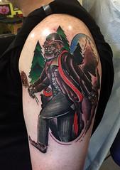 Gentleman sasquatch tattoo