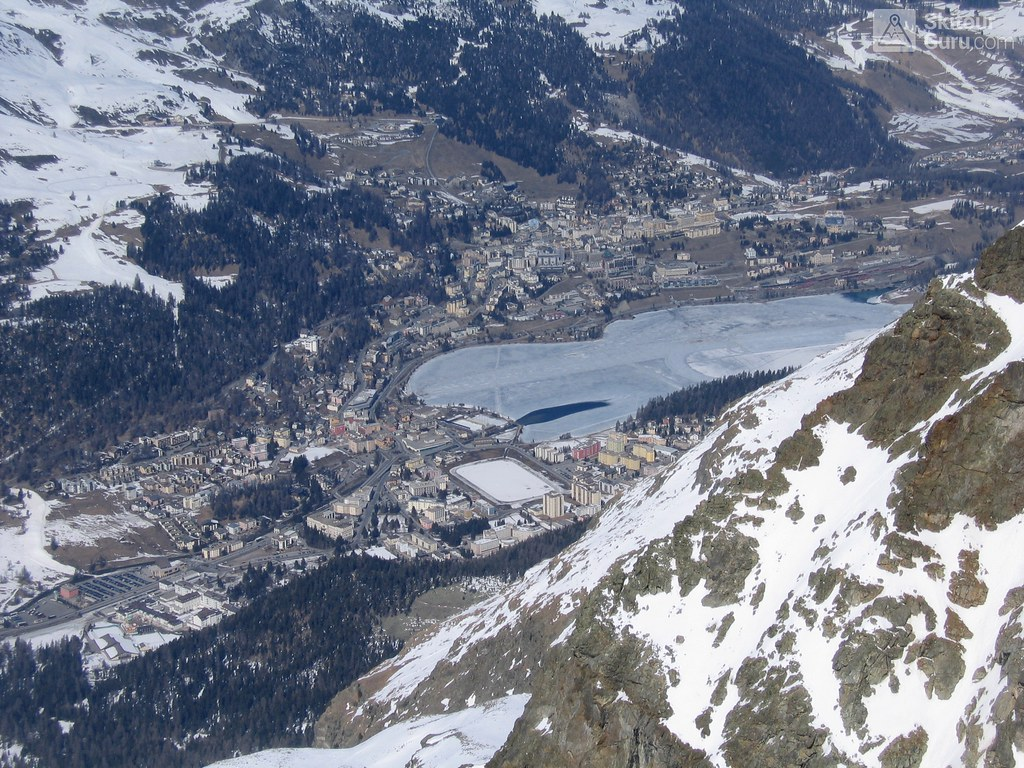 Sankt Moritz from Piz San Gian, Engadin, Grubünden, Switzerland