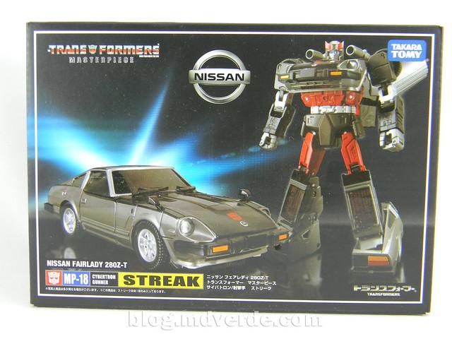 Transformers Streak - Masterpiece - caja