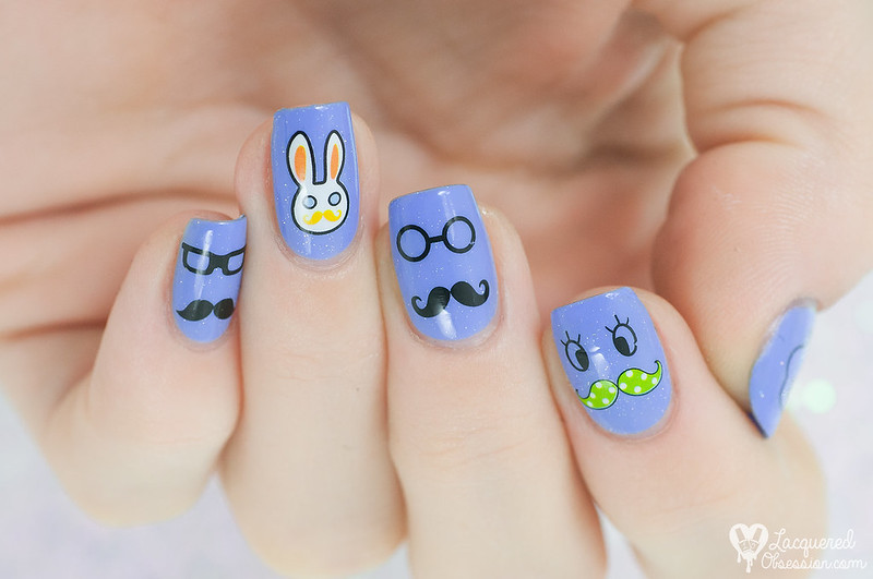 Nails with moustaches