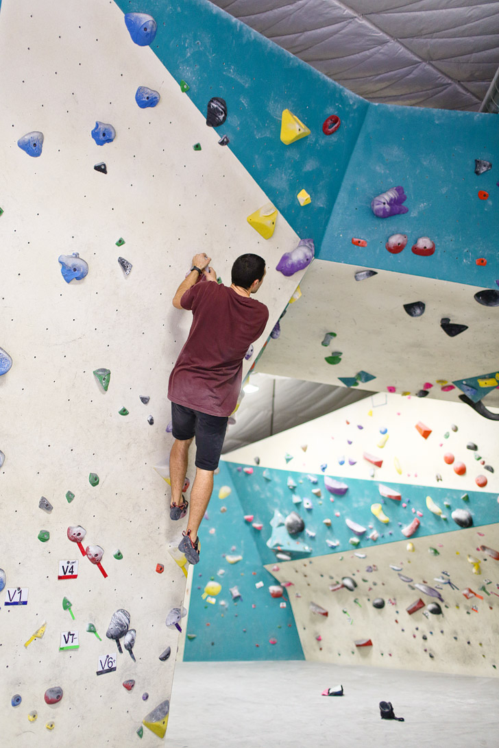 The Grotto is one of San Diego's newest indoor bouldering, climbing, and yoga gyms. There are over 130 climbs with a wide range of difficulties. In addition to the 7,000 sq. feet of textred climbing surface, there is a yoga studio, showers, social areas, and a gym to help you train.