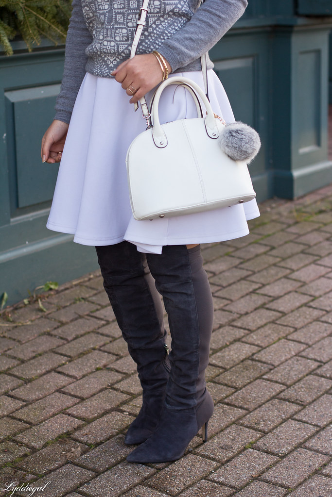 grey sweater, white skirt, over the knee boots-5.jpg