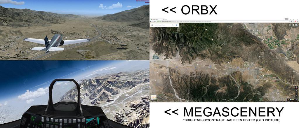 MegaScenery VS ORBX
