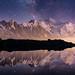 """""""Miroir d'étoiles sur le Mont-Blanc"""". Lac supérieur de Chéserys, Haute-Savoie. by Raphaël Grinevald • Photographe"""
