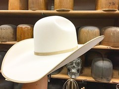 This just happened! She's gonna wear her #HATitude™ in this Competitor Quality Ivory Puncher with 4ligne bone bound edge and trim.