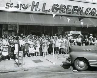 H L Green Variety Store Columbus Georgia Press Photo 1955