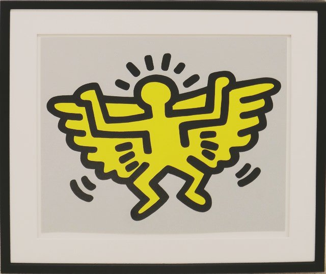 """ Icons "" (Angel) 1990 by Keith Haring / Pop Art"