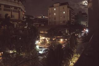 Phnom Penh in moonlight