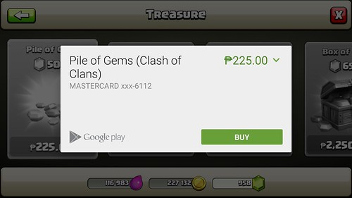 CoC Gem Purchase Via Smart