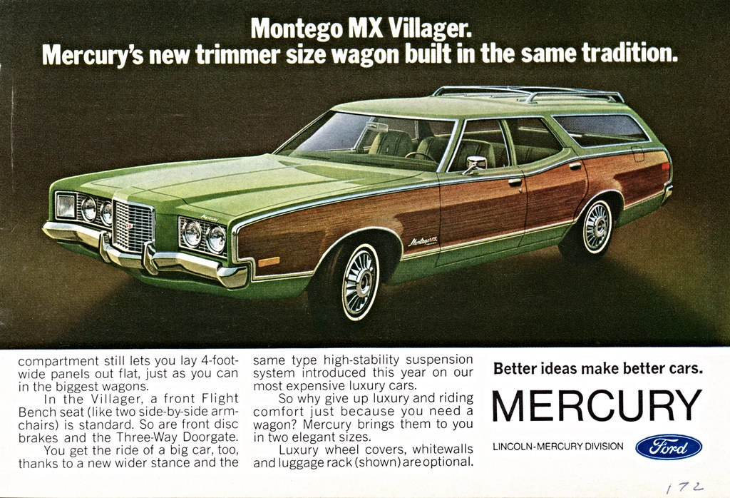 1972 mercury montego mx villager station wagon a photo
