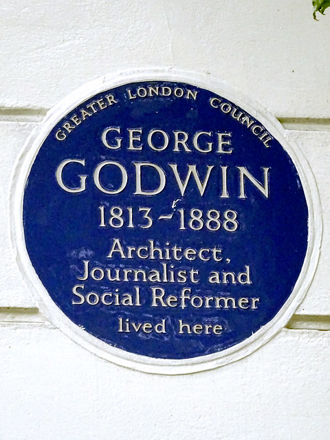 George Godwin blue plaque - George Godwin 1813-1888 architect, journalist and social reformer lived here