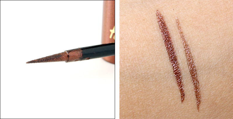 H&M afterglow aqua liquid eyeliner swatch