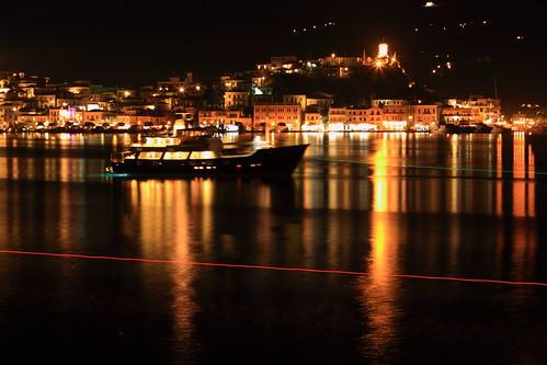 Poros Town after Dark