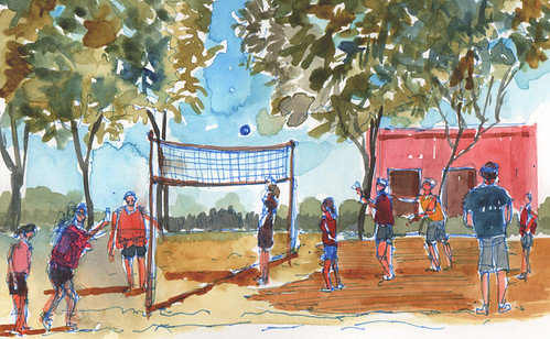 Sand volleyball, Mountain View, California