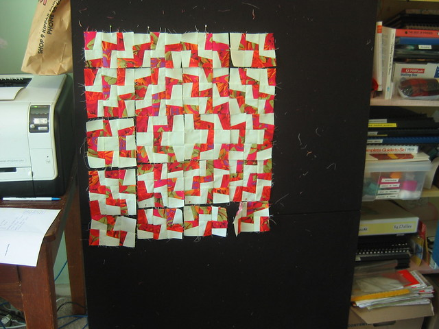 Mini fractured dolly quilt
