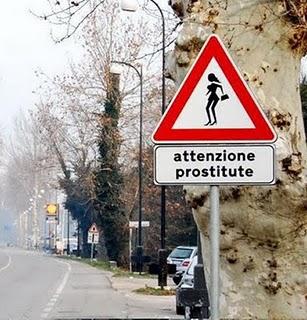 imagen graciosa de señal de prostitutas