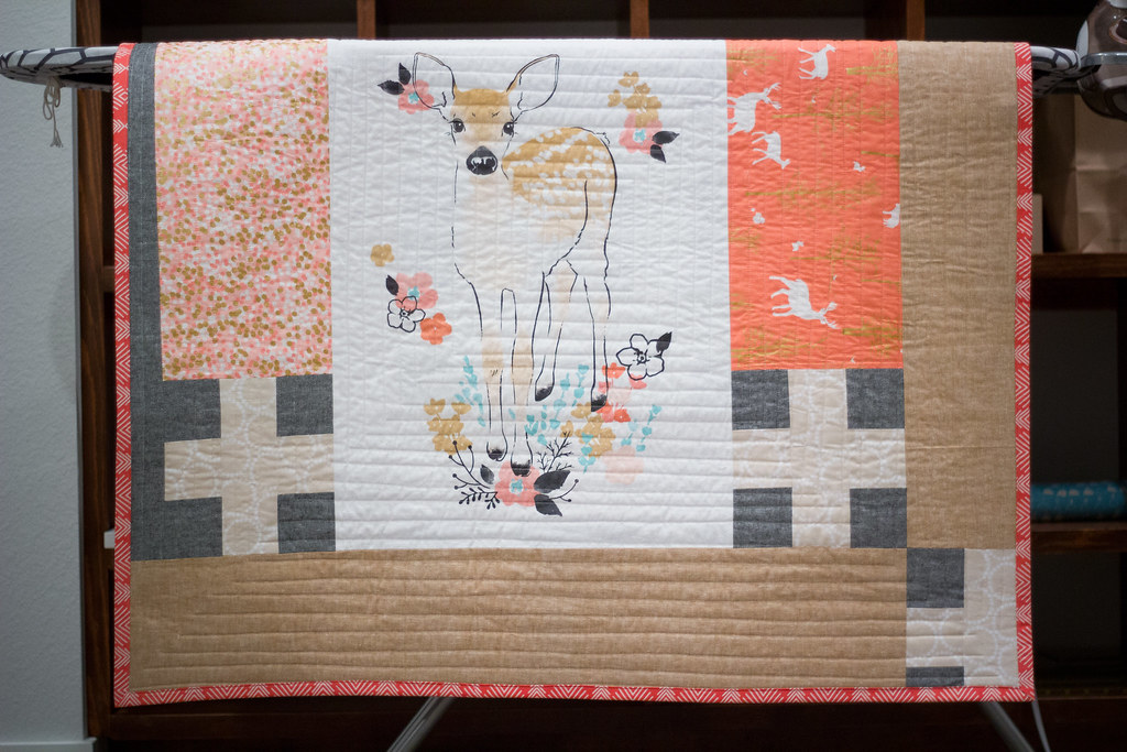 Fawn baby quilt