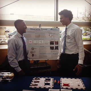 Shima Seiki STAR students showcasing their work with wearable technology @drexeluniv