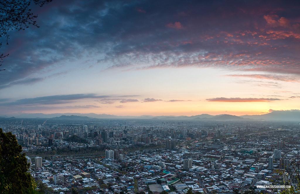 Sunset over Santiago de Chile 03