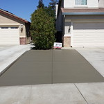 Broom Finish Concrete Driveway Extension In Vacaville