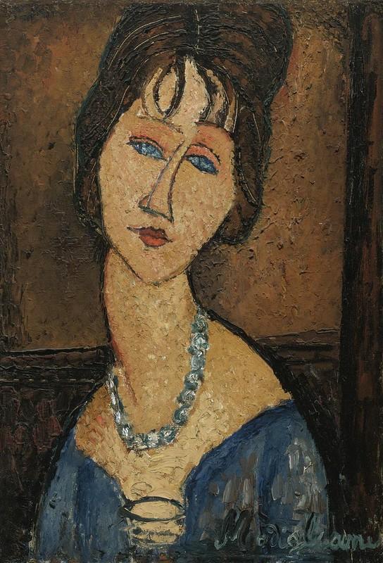 Amedeo Modigliani, Portrait de Jeanne Hebuterne au Collier, 1916-1917