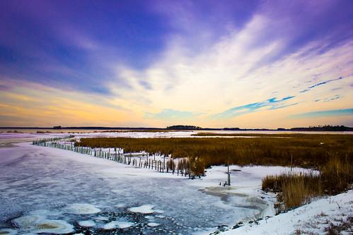 winter sunset serenity marsh winterice sundaydrive blackwaternationalwildliferefuge churchcreekmd peacefulsunset