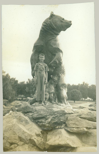 Boy with Bear statue