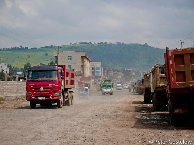 Entering Addis Ababa