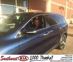 Congratulations Janet on your #Kia #Sorento from Don Weintraub at Southwest KIA Rockwall!