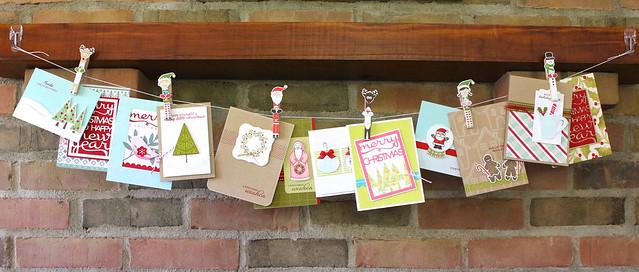 Holiday Pin Ups Card Garland