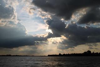 Clouds over the Mê Kông River near Cái Bè