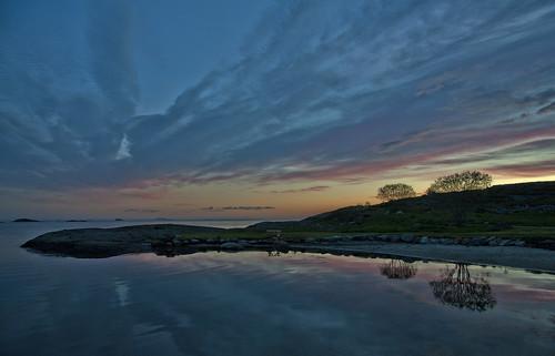 sea sky seascape reflection nature norway night landscape stavanger norge smiodden kvernevik nikond700
