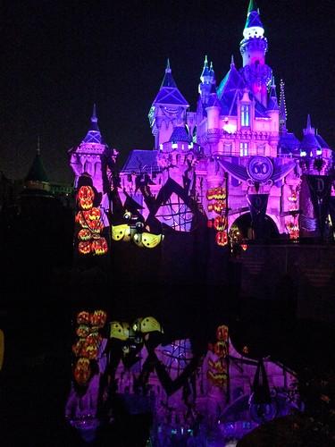 Disney Castle at Halloween