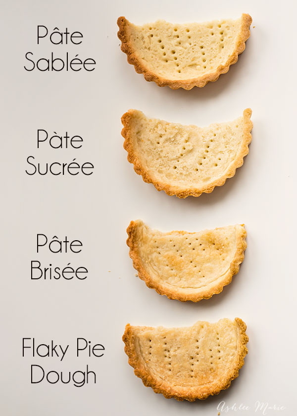 ... , four different types of pie crusts, something for every pie or tart