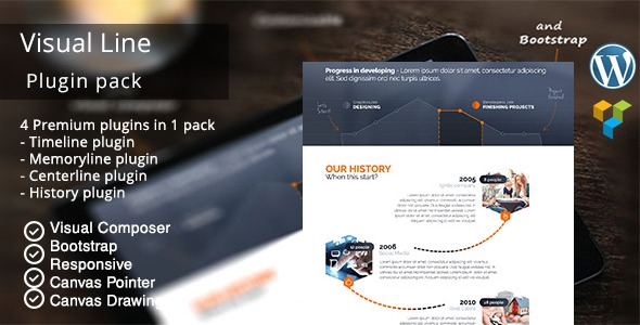 CodeCanyon VisualLine v1.3.2 - Visual Composer Timeline Addons Pack