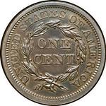 1845 Cent reverse